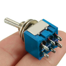 10pcs On-Off-On 3-Way Mini Toggle Switch 6-Pin 6A 125VAC New High Quality WXF